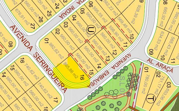 Terreno a venda na Avenida Embaúba, Jardim do Golf I, Jandira, SP
