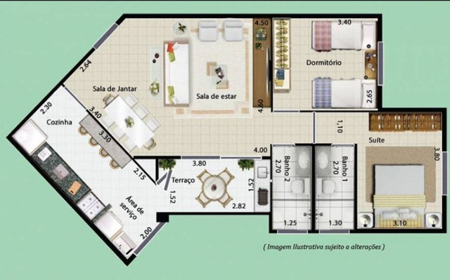 Apartamento a venda na Estrada São Judas, Esplanada, Embu das Artes, SP